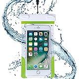 AQUA MARINA 防水ケース iPhone Xperia Galaxy 国際保護等級 IPX8認定 ネックストラップ アームバンド付 水深1m潜水対応 海 プール お風呂 レジャー 旅行 キッチン FREETEL arrows ZenFone 5.5インチ以下全機種対応 WPP-16-070GR
