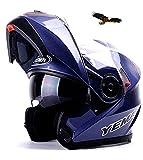 X.N.S(希望)11色可選 YM-925 バイクヘルメット フルフェイスヘルメット システムヘルメット ダブルシールド ジェット ヘルメット (L, 商品9)