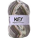 Opal毛糸 オリジナルカラー KFS100 サーカス グレー系マルチカラー