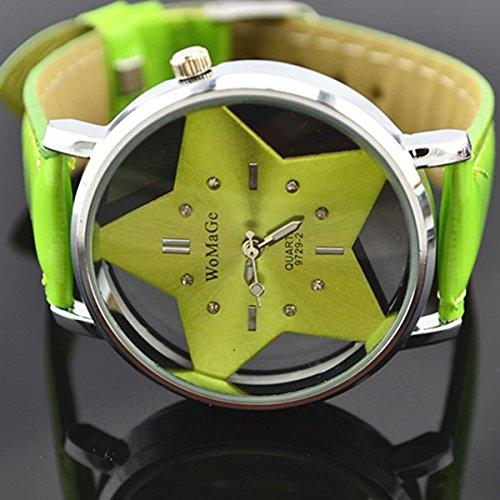 ZooooM 星 型 腕 時計 スター オシャレ ファッション 女性 レディース 手 ウォッチ お洒落 可愛い かわいい (ブラック) ZM-SUTATO-BK