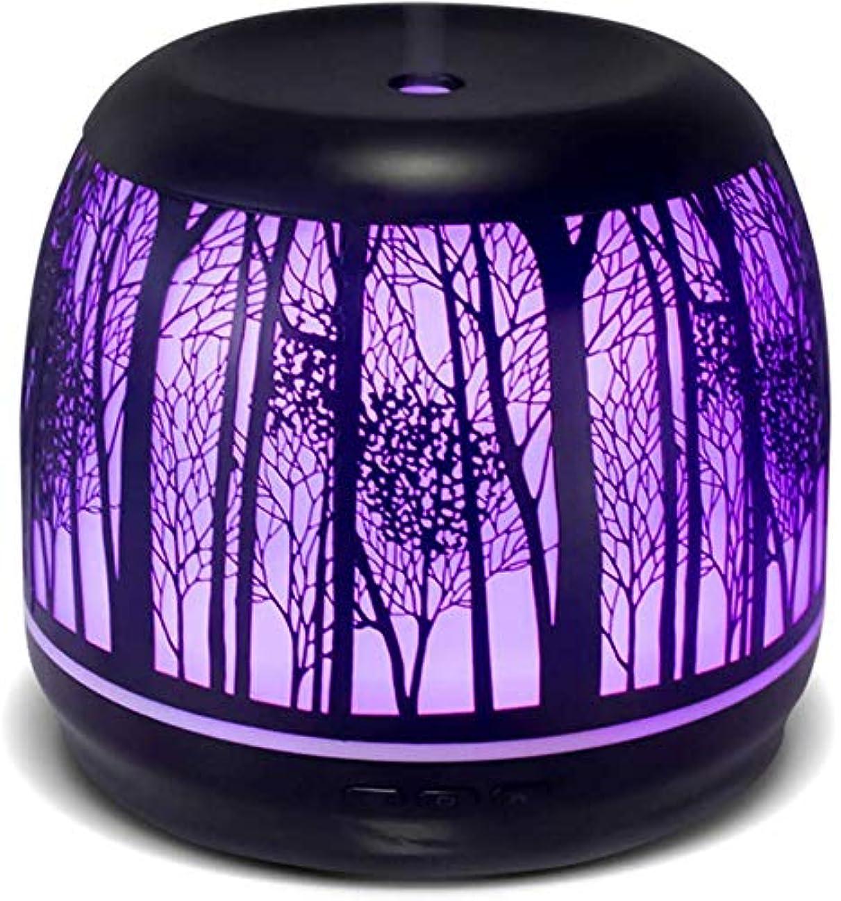 チラチラする余裕があるヨーグルトエッセンシャルオイル用ディフューザー、家庭、オフィス、キッチン、ベビールーム用の大容量500mL水タンク付きプレミアムアイロンアロマセラピーディフューザー7色LEDライト付き超音波加湿器