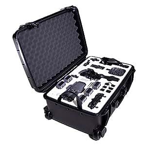 DJI Mavic Pro & DJI OSMOハードケースby Drone Crates–Rolling、デュアルレイヤ、アメリカ、ミリタリーグレード、Hardshell、防水性、衝撃吸収、Crush Proof , Fits DJIドローン&ジンバルブラック携帯ケース