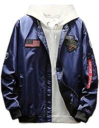 chenshiba-JP 男性の薄飛行大学のカジュアル便ジップジャケット
