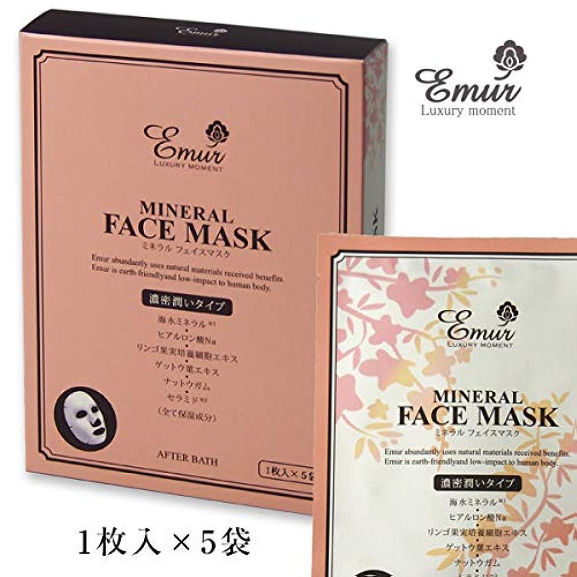 美的登るより平らなエミュール ミネラル フェイスマスク 1枚入×5袋