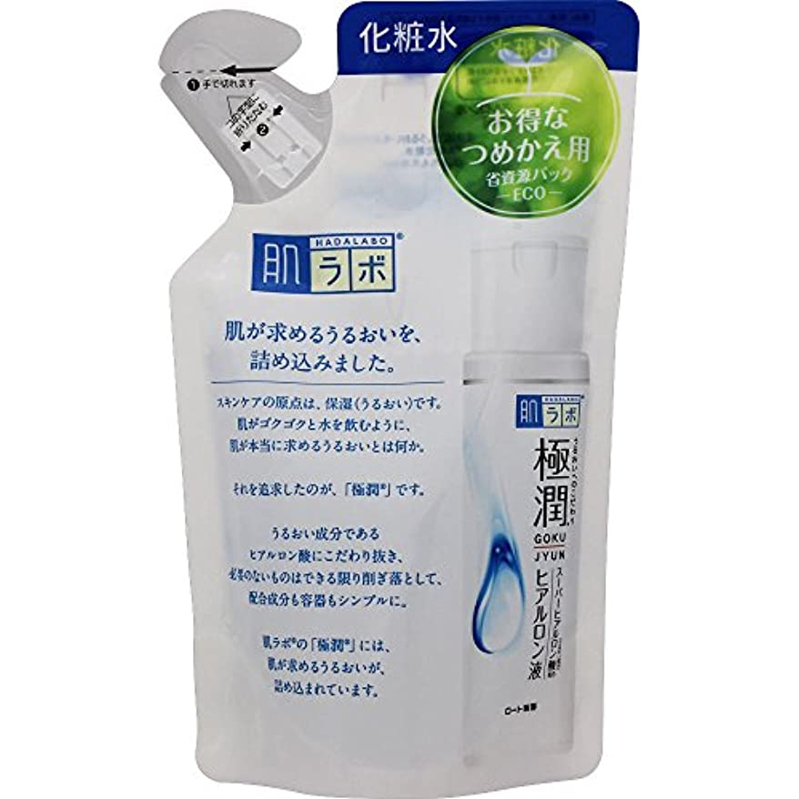 鑑定色硬さ肌ラボ 極潤 ヒアルロン酸 化粧水 ヒアルロン酸3種配合 詰替用 170ml