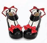 ロリータ靴 ハイヒール レディース 厚底 リボン付き 取り外し可 歩きやすい 原宿ファッション 美脚 Happy-Online (22cm)