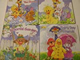 Little Suzy's Zoo Who's Laughing Colorful Garden Ellie's Tea Party and Rainy Day Friends(set of 4)