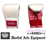 COBRA BAG GLOVE SYNTHETIC LEATHER WH/PNK