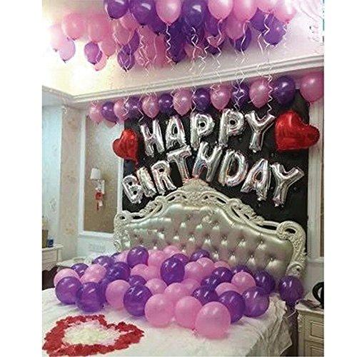 [해외]HAPPY BIRTHDAY 생일 파티 장식 풍선 세트 생일 장식 세련된 풍선 테이프 리본 펌프 꽃잎 함께/HAPPY BIRTHDAY birthday party interior balloon set birthday decoration fashionable balloon tape ribbon pump petals included