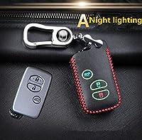 1ピース新しいアイテムキーパック黒キーケース車のキーバッグに適しトヨタカローラカムリlexvin rav4ハイランダーキーカバーの交換-A night lights