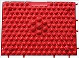 ケンオウ 足裏マット 2枚セットマッサージ効果 血行促進 美容 健康 (レッド)