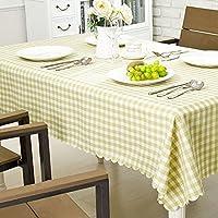 グリーン生地コットンスタイルモダンシンプルな防水厚い長方形のテーブルクロス (色 : A, サイズ さいず : 130cm*180cm)