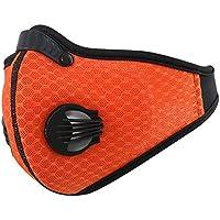 Yihao 黑白面罩防尘面罩登山滑雪户外运动面罩活性炭滤网PM 2.5花粉过敏