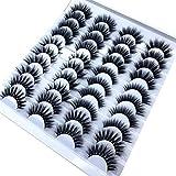 QWAZ HBZGTLAD 8/20 Pairs 3D Mink Hair False Eyelashes Natural/Thick Long Eye Lashes Wispy Makeup Beauty Extension Tools (Colo
