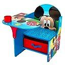 デルタ DELTA デスク チェア 収納付き TC85664MM ミッキーマウス 子供机 キッズ 勉強机 テーブル イス 並行輸入品
