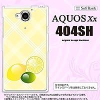 404SH スマホケース AQUOS Xx 404SH カバー アクオス ダブルエックス レモン nk-404sh-659