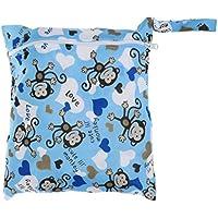 SONONIA 防水 再利用可能 赤ちゃん ジッパー おむつ袋 ウェット ドライ 水泳 トラベル トート バッグ 収納バッグ 全11色 選べる