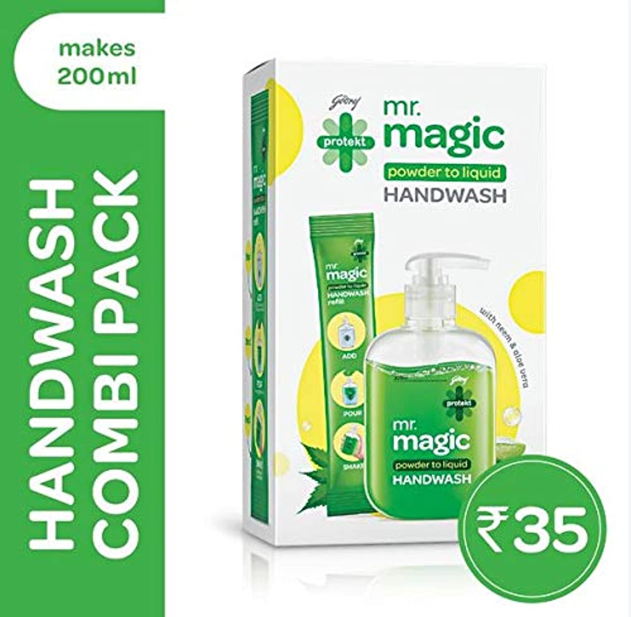 半導体まだ階下Godrej Protekt Mr. Magic Handwash 9g (Pack of 2)