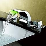 JiaYouJia LEDバスタブ水栓金具  混合水栓  蛇口  サウナ家具 クロームメッキ表面処理 (LED付き)