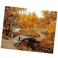 Baosity 壁掛け 風景画 キャンバス 写真 背景 手書きアートポスター 絵画 モダン アート 絵画 インテリア 油画 多種選べる - 秋の風景