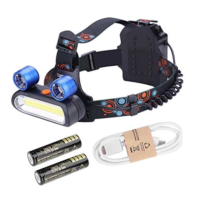 慈悲深いロンドン貢献LEDヘッドライト ヘッドランプ 懐中電灯 耐水性 アルミ合金製 調節可能なヘッドバンド キャンプ/読書/狩猟/釣り/ハイキング用
