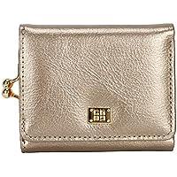 [Misakira] 財布 レディース 三つ折り ミニ財布 がまロ レザー かわいい 大容量 おしゃれ コン パクト ウォレット カード小銭入れ