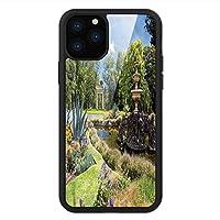 iPhone 11 Pro Max 用 強化ガラスケース クリア 薄型 耐衝撃 黒 カバーケース 庭園 歴史的名所 iPhone 11 Pro 2019用 iPhone11 Pro Maxケース用
