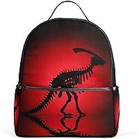 マキク(MAKIKU) リュック レディース おしゃれ 軽量 大容量 通学 通勤 旅行 恐竜 レッド ブラック プレゼント対応