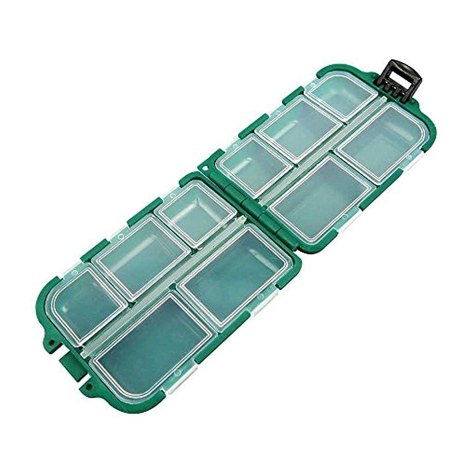 かすかなジュラシックパークフロンティアクリアビーズタックルボックス003釣りルアーネイルアートパーツ小さなプラスチック透明ケースストレージオーガナイザーコンテナKisten Boxen Boite