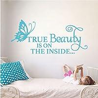 """True Beauty 壁デカール 17"""" (H) X 34"""" (W) ブルー 1747-WALL-01-19"""