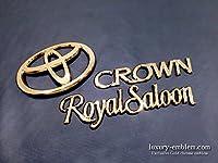【高級 ゴールド エンブレム 新品 保証付】 クラウン 18系 ロイヤルサルーン リア 3点 セット
