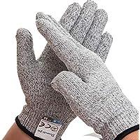 Dowellife 軍手 防刃手袋 作業用手袋 切れない手袋 耐切創 耐刃 グローブ 防災 ナイフ 刃物 ガラス 料理用レベル5安全防護