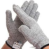 Dowellife 軍手 防刃手袋 作業用手袋 切れない手袋 耐切創グローブ 防災 刃物 料理用レベル5安全防護 (M)