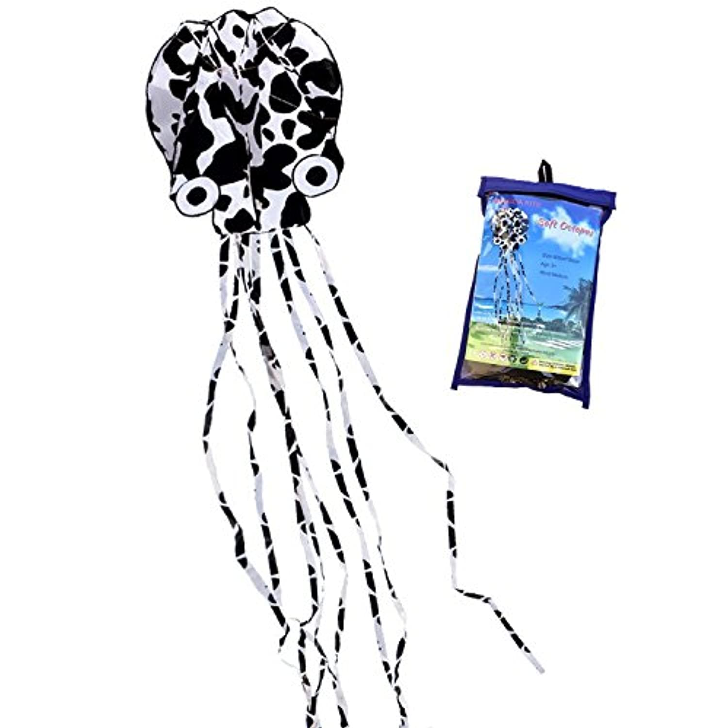 HENGDA kite-beautiful Large Easy Flyer Kite for Kids – Red Mollusc octopus-it 's Big 。31インチWide with Long Tail 157インチlong-perfectのビーチで公園またはHengda Kite