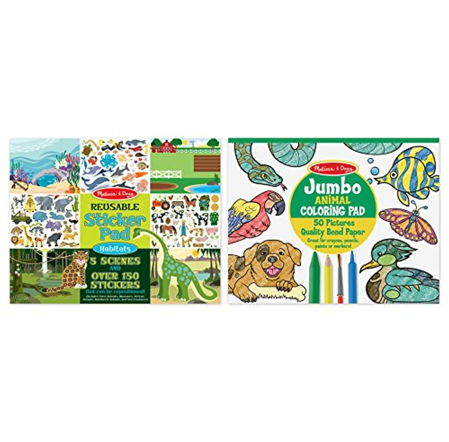 Melissa & Doug Reusable Sticker Pad – Habitats 9921