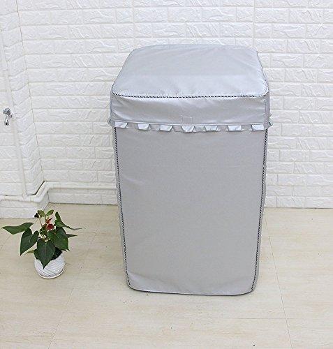 YBB パルセータ洗濯機カバー53*55*86テープ式 洗濯機プロジェクター 埃防止 陽射し 銀塗りでUVカット フリルレース フロントの開け口 ユーザーフレンドリー