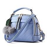 Bloom(ブルーム) レディース バッグ ハンドバッグ ショルダーバッグ 手提げ 2way 斜めがけ 肩がけ 高品質なPUレザー おしゃれ 通勤 通学 handbag-blue
