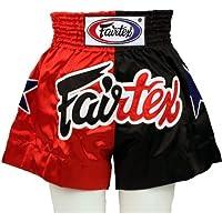 Fairtexモデルbs85 Nation Flagレッド/ブラック – サテンショーツforボクシング、キックボクシング、ムエタイ、MMA、k1