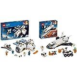 レゴ(LEGO) シティ 変形自在! 光る宇宙ステーション 60227 ブロック おもちゃ 男の子 & シティ 超高速! 火星探査シャトル 60226 ブロック おもちゃ 男の子【セット買い】