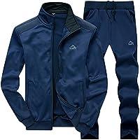 JINSHI Men's Athletic Tracksuit Full Zip Warm Jogging Sweat Suits