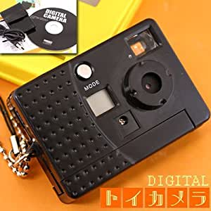 本格派 トイカメラストラップ トイデジタルカメラ携帯ストラップ(クールブラック)