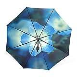 AOMOKI 折り畳み傘 手開き 三つ折り 梅雨対策 耐強風 8本骨 ネモフィラ ルリカラクサ 春 花 瑠璃唐草