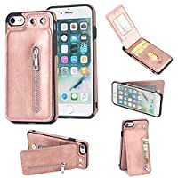 iPhone 6 iPhone 6s 4.7 inch Flip Cover, Case, Happon Skin Card Slot [Stand Feature] Leather Wallet Case Vintage Book Style Magnetic Protective Cover Holder for iPhone 6 iPhone 6s 4.7 inch - Rose