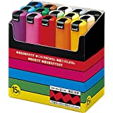 (1, Black/Blue/Green/Orange/Red/White/Yellow) - Posca bold type 15colors (Japan Import)