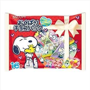 スヌーピー[お菓子 チョコレート]おくばり チョコパック 16袋入り/バレンタイン ピーナッツ