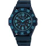 [シチズン キューアンドキュー]CITIZEN Q&Q 腕時計 ダイバー 10気圧防水 ウレタンベルト ブルー ネイビー VR80-003 メンズ