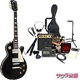 Maison メイソン エレキギター レスポールタイプ サクラ楽器オリジナル LP-28/BK 初心者入門13点セット