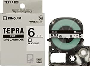 キングジム テープカートリッジ テプラPRO 6mm SS6K