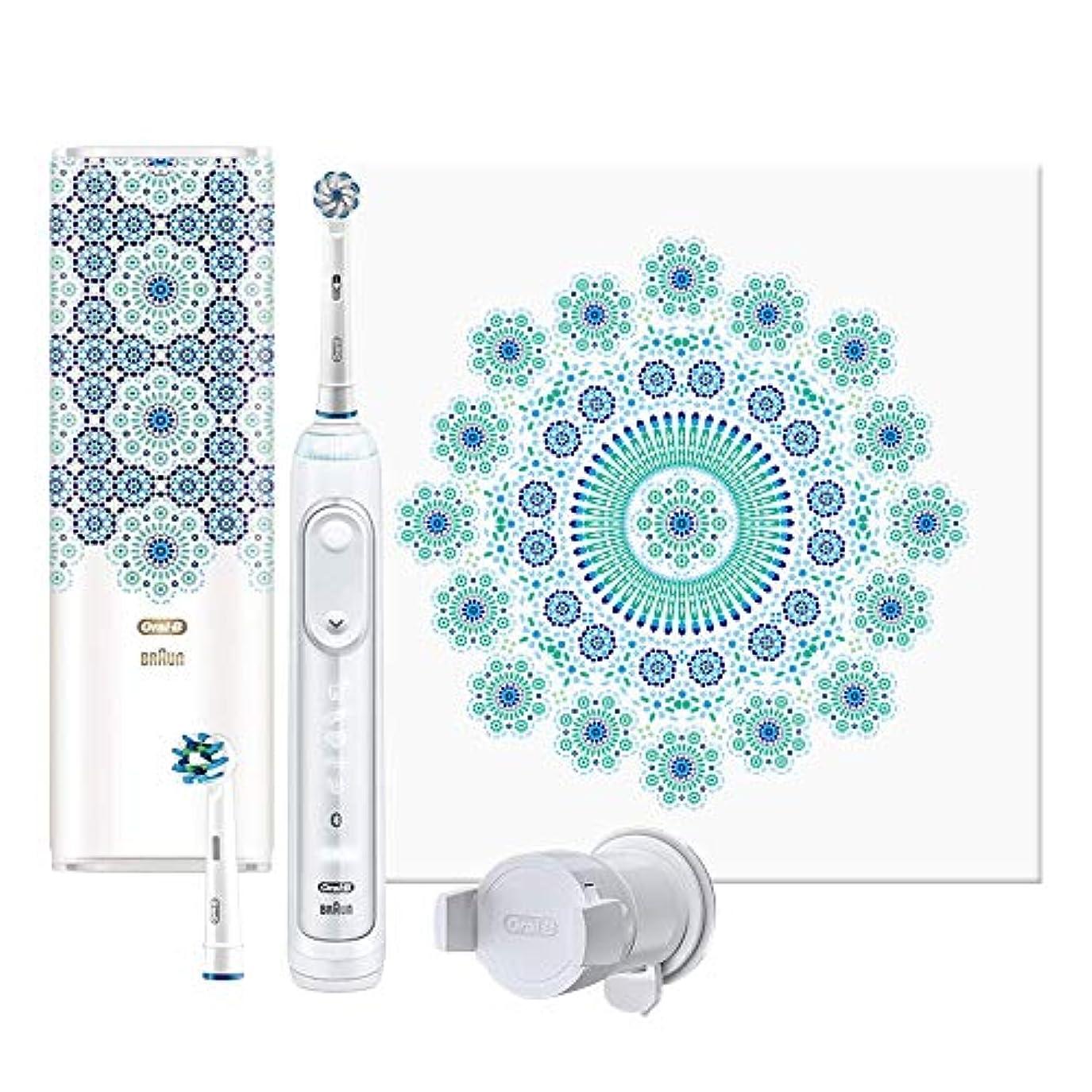 コインランドリーぬるいアブセイブラウン オーラルB 電動歯ブラシ ジーニアス9000 モロッコデザイン D7015256XCTMC