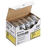KING JIM 「テプラ」PROテープカートリッジ エコパック 5個入り 12mm 黄/黒文字 SC12Y-5P
